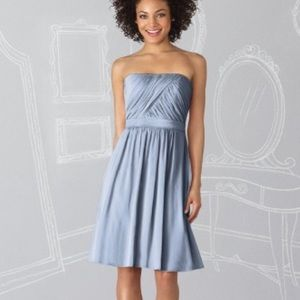 Strapless dress with a line fit